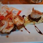 Amazing starter. Scallops and belly pork