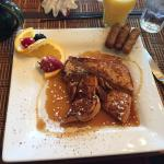 Delicious breakfast of Sweet Potato French Toast - YUMM!!!