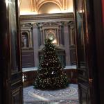 lovely Christmas tree in main hall way