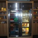 Pantry off the lobby with (for purchase) snacks and frozen meals