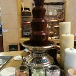 Chocolate Fountain for Breakfast - Yum yum!!