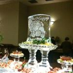 Ice Carving at Thanksgiving buffet