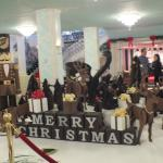 Christmas display made of chocolate.