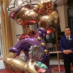 One of two Jeff Koons sculptures onsite