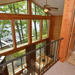Looking out from the loft at Chief Lake, Oak Shores Pin Oak