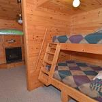 Red Oak bunk bed sleeping alcove