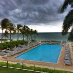 View from the Lobby Bar (as a storm was rolling through)