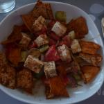 """Unforgettable """"Greek Salad"""" at """"Jackie O' Club and Restaurant"""" at Super Paradise Beach"""