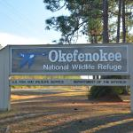 The Okefenokee sign off Suwannee Canal Road.