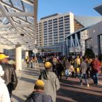The walk from the Georgia Dome to the Omni