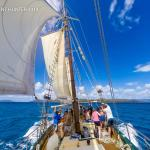 Traditional tallship sailing on an authentic vessel with a long history. Derwent Hunter