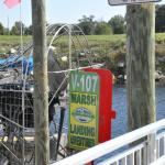 Airboat at dock