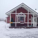Picture of our front of the cabin