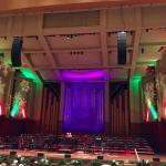 The stage at Christmas (not the greatest acoustics in the city but decent)