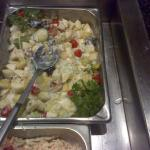Waldorf salad as prepared by the local chef