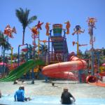 Water park within the grounds of hotel