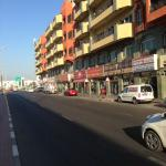 Road nearby with shops