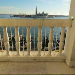 Looking out from terrace (which is much longer than it appears) to San Giorgio