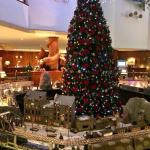 Fab Christmas tree with working train track and villages