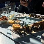 calamari tentacles and blue cheese mussels