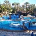 Main swimming pool and pool bar