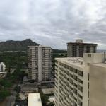 View of Diamondhead & Ocean - from the balcony of my Mountain View Room