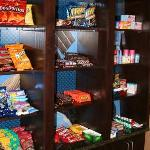 Hampton Inn & Suites Casper Wyoming hotel Suite Shop with snacks and other items you may have fo