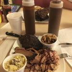 Trio, ribs, brisket and pulled pork, I couldn't buy all this meat for the price we paid for this