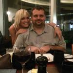 My honey and I at dinner