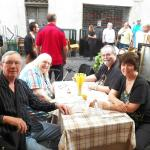Lunch in Rome at a little sidewalk cafe.