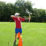 Enjoying the new archery faciity at the Fairmont Mayakoba