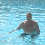 me in the heated in winter pool... nice and warm in december