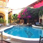One of two hotel pools