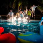 Night life at Hatchet Caye Private Island Resort in Belize