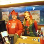 Yes, these ladies come dressed as elves everyday.