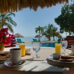 Dining Poolside at Belizean Dreams Resort in Hopkins Belize