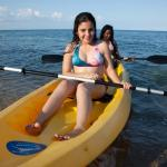 Kayaking around the peninsula at Belizean Dreams in Hopkins Belize