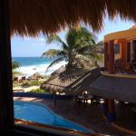 The view from our palapa room