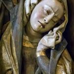 "Closeup of one of the mourners in the sculpture ""The Lamentation"" Spanish 1480 CE (1)"