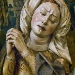 "Closeup of one of the mourners in the sculpture ""The Lamentation"" Spanish 1480 CE (3)"