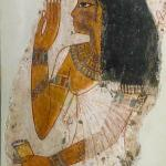 Painted Gesso Portrait of Lady Tjepu New Kingdom Dynasty 18 1390-1352 BCE