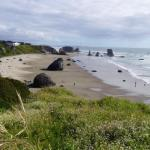 Beautiful 270 degree views of the Bandon Beach, right outside of the Motel
