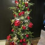 The main lobby's Christmas tree.