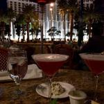 View from our table. French Martinis