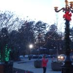 Christmas Snow at Entrance to Zoo