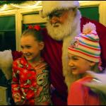 Santa Clause on the Polar Express