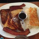 French Toast and Blues Egg Hash Browns