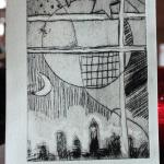 My completed etching print