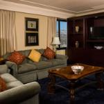 Beautiful Suite with views of Pikes Peak at the Antlers Hilton Colorado Springs hotel.