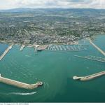 Dun Laoghaire Harbour Aerial View
